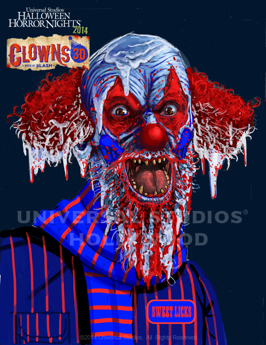 hhnh 2014 concept artwork from clowns 3d music by slash the hhn yearbook